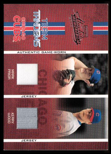 Photo of 2005 Absolute Memorabilia Team Tandems Swatch Single #1 Mark Prior Jsy/Kerry Wood Jsy/125