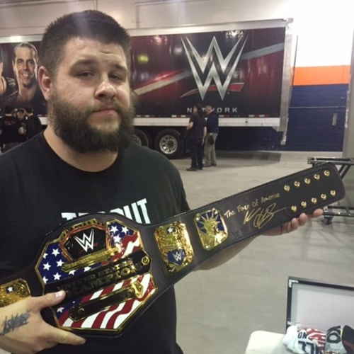 Kevin Owens SIGNED United States Championship Replica Title (RAW - 04/10/17)