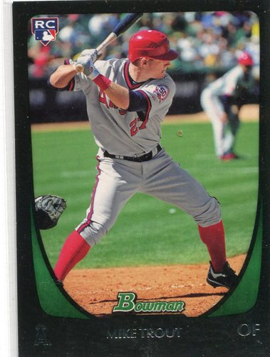Photo of 2011 Bowman Draft #101 Mike Trout Rookie Card