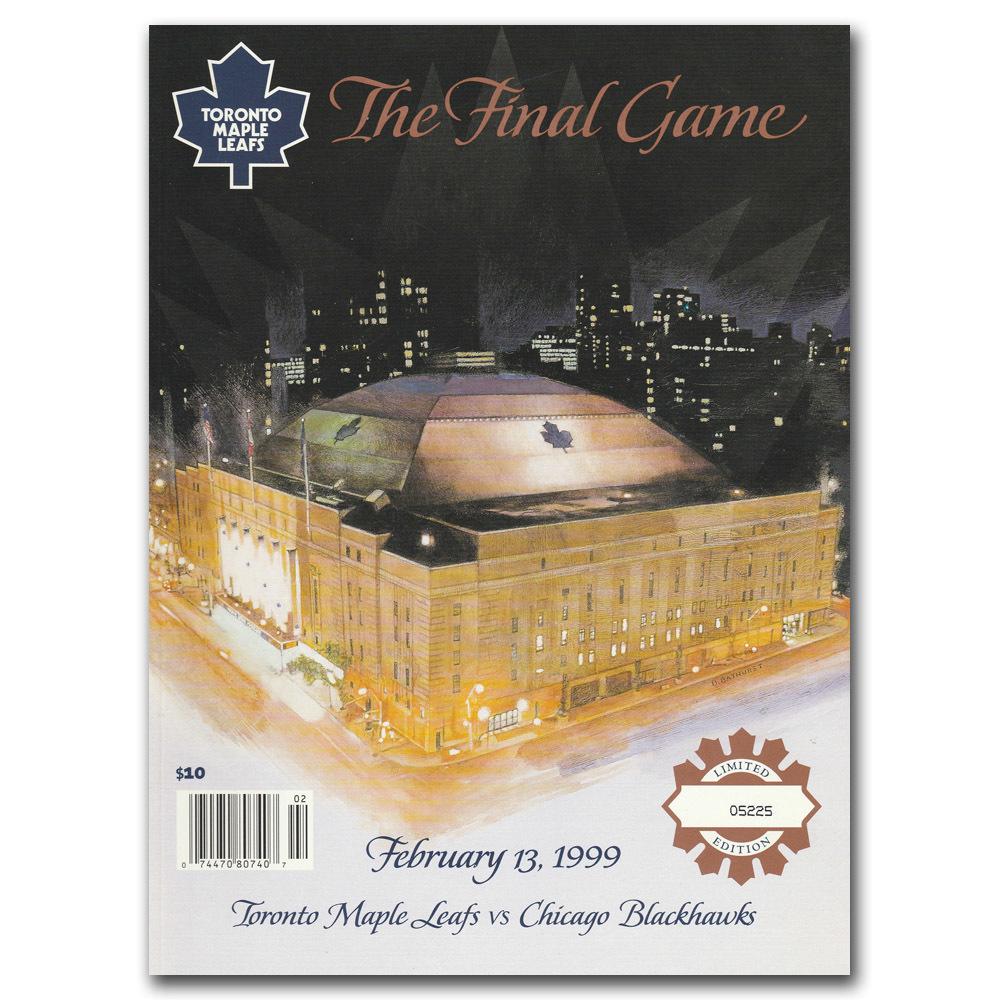 Maple Leaf Gardens Limited-Edition Final Game Program