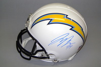 CHARGERS - JOEY BOSA SIGNED CHARGERS PROLINE HELMET