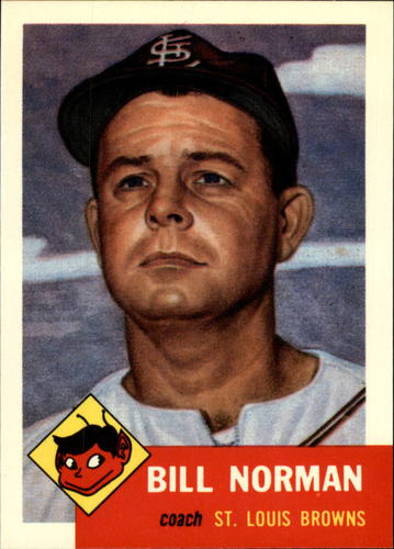 Photo of 1991 Topps Archives 1953 #245 Bill Norman CO