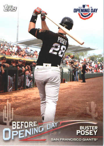 Photo of 2018 Topps Opening Day Before Opening Day #BODBP Buster Posey