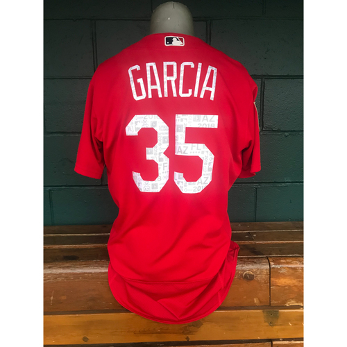 Photo of Cardinals Authentics: Game Worn Greg Garcia 2018 Spring Training Jersey