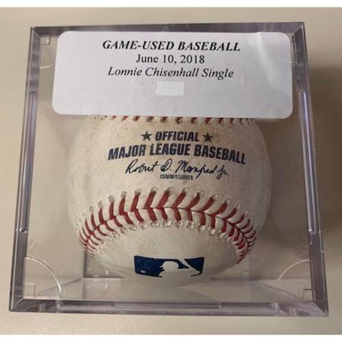 Photo of Game-Used Baseball: Lonnie Chisenhall Single