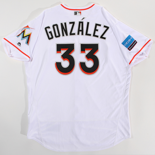 Photo of 2018 Japan Series Game-Used Jersey - Fredi Gonzalez - Size 52