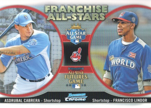 Photo of 2012 Bowman Chrome Franchise All-Stars #CL Asdrubal Cabrera/Francisco Lindor