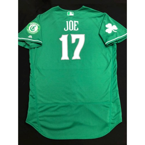 Photo of Connor Joe -- Game-Used Jersey -- 2019 St. Patrick's Day