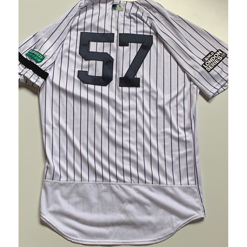 Photo of 2019 London Series - Game-Used Jersey - Chad Green, New York Yankees vs Boston Red Sox - 6/29/19