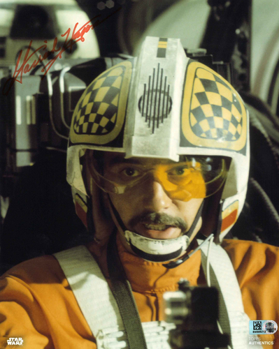 Garrick Hagon As Biggs Darklighter 8X10 AUTOGRAPHED IN 'Orange' INK PHOTO