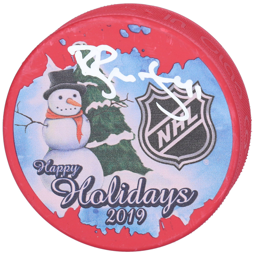 Robert Bortuzzo St. Louis Blues Autographed Inglasco 2019 Happy Holidays Hockey Puck - NHL Auctions Exclusive