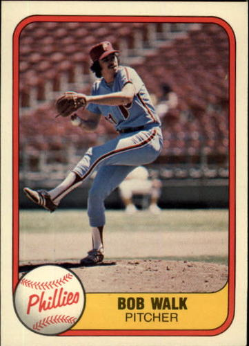 Photo of 1981 Fleer #14 Bob Walk RC