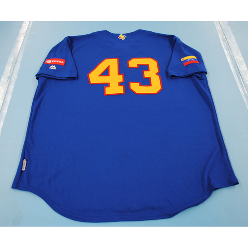 Photo of 2017 World Baseball Classic: Venezuela Batting Practice Jersey #43 - Bruce Rondon - Size XXL