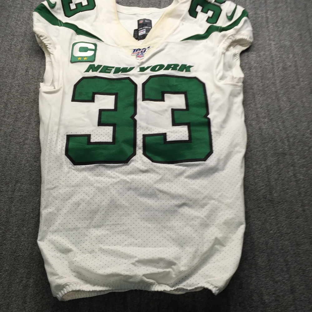 STS - Jets Jamal Adams Game Used Jersey (12/1/19) Size 38 W/ Captains Patch
