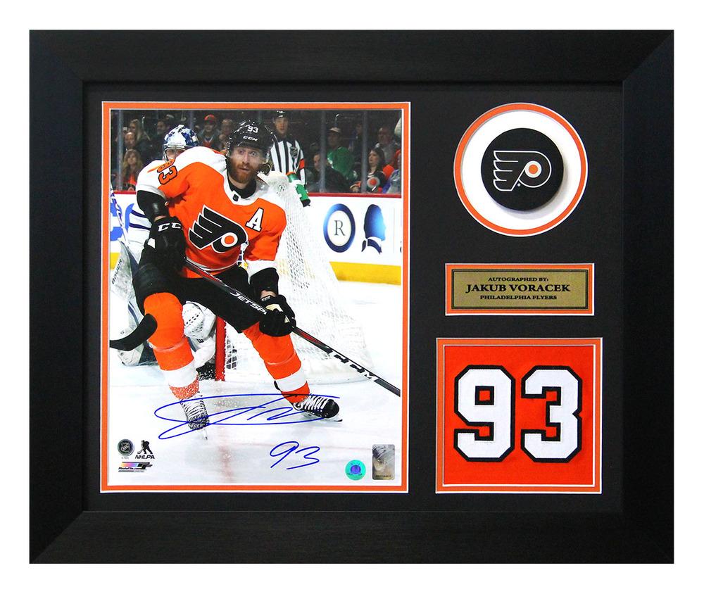 Jakub Voracek Philadelphia Flyers Signed Franchise Jersey Number 20x24 Frame