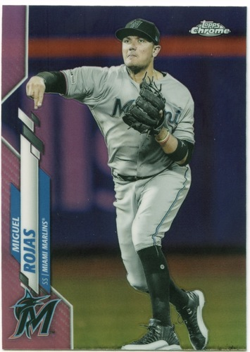 Photo of 2020 Topps Chrome Pink Refractors #105 Miguel Rojas