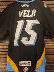 Photo of Marcus Vela Toledo Walleye Game Worn  Jersey