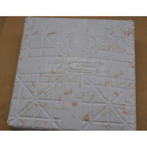 Photo of Game-Used 3rd Base - 2020 World Series - Los Angeles Dodgers vs. Tampa Bay Rays - Game 3 - Used Innings 1-6