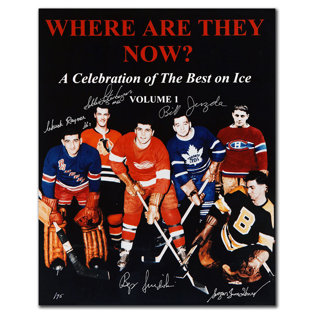 Where Are They Now? Original 6 Greats Autographed 16x20 Photo Signed By 5