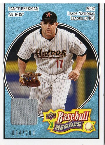 Photo of 2008 Upper Deck Heroes Jersey Light Blue #74 Lance Berkman