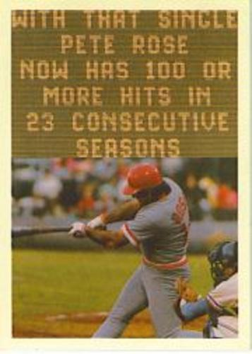 Photo of 1985 Topps Rose #120 Pete Rose/Scoreboard