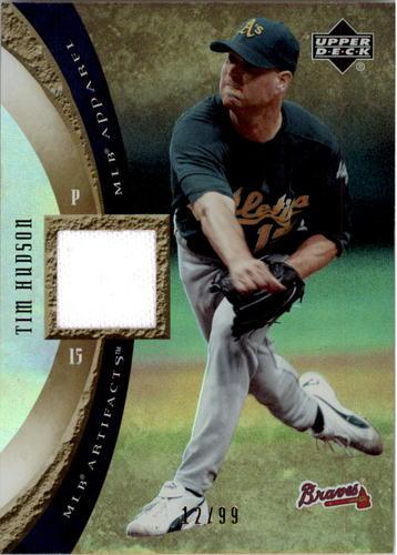 Photo of 2005 Artifacts MLB Apparel Rainbow #HU Tim Hudson JERSEY 12/99