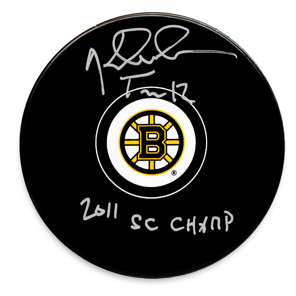 Tomas Kaberle Boston Bruins 2011 Cup Autographed Puck