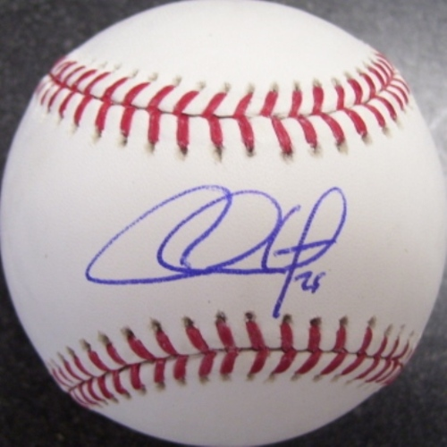Photo of Chase Utley Autographed Baseball