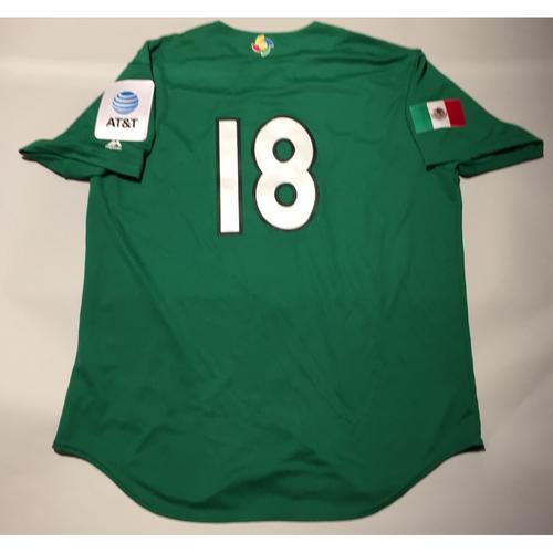 2017 WBC: Mexico Team-Issued Batting Practice Jersey, Roberto Osuna #18