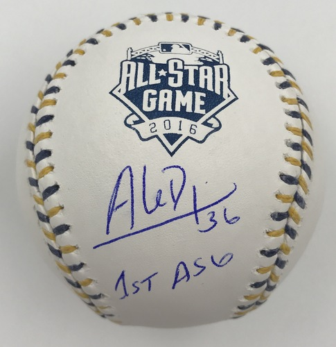 "Photo of Aledmys Diaz ""1st ASG"" Autographed 2016 All-Star Game Logo Baseball"
