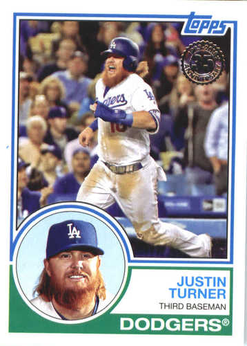 Photo of 2018 Topps '83 Topps #8360 Justin Turner