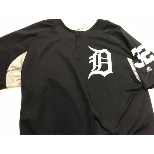 Photo of 2017 Team-Issued Detroit Tiger #32 Home Batting Practice Jersey