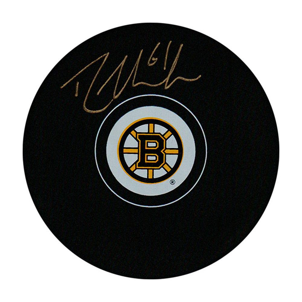 Rick Nash Autographed Boston Bruins Puck