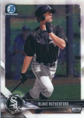 Photo of 2018 Bowman Chrome Prospects #BCP140 Blake Rutherford