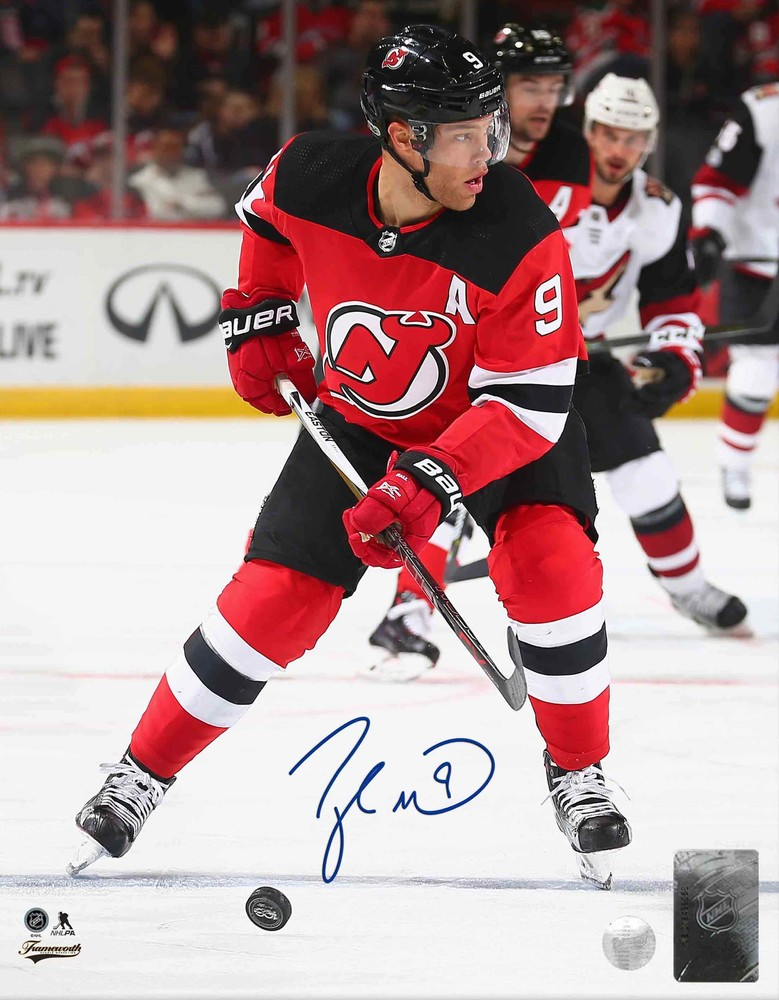 Taylor Hall Signed 8x10 Unframed - Devils Red Action