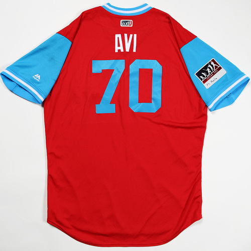"Photo of Luis ""Avi"" Avilan Philadelphia Phillies Game-Used Jersey 2018 Players' Weekend Jersey"