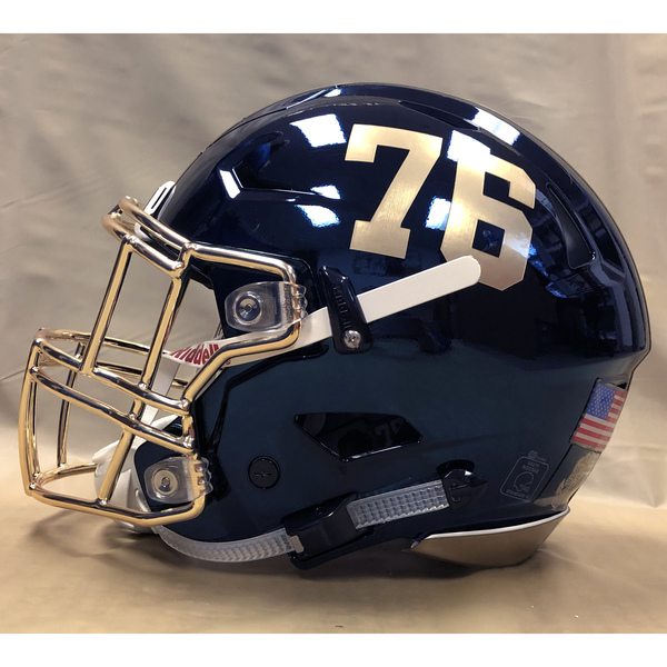 Photo of #76 Game Worn  Fear the Goat Army/Navy Game Football Helmet