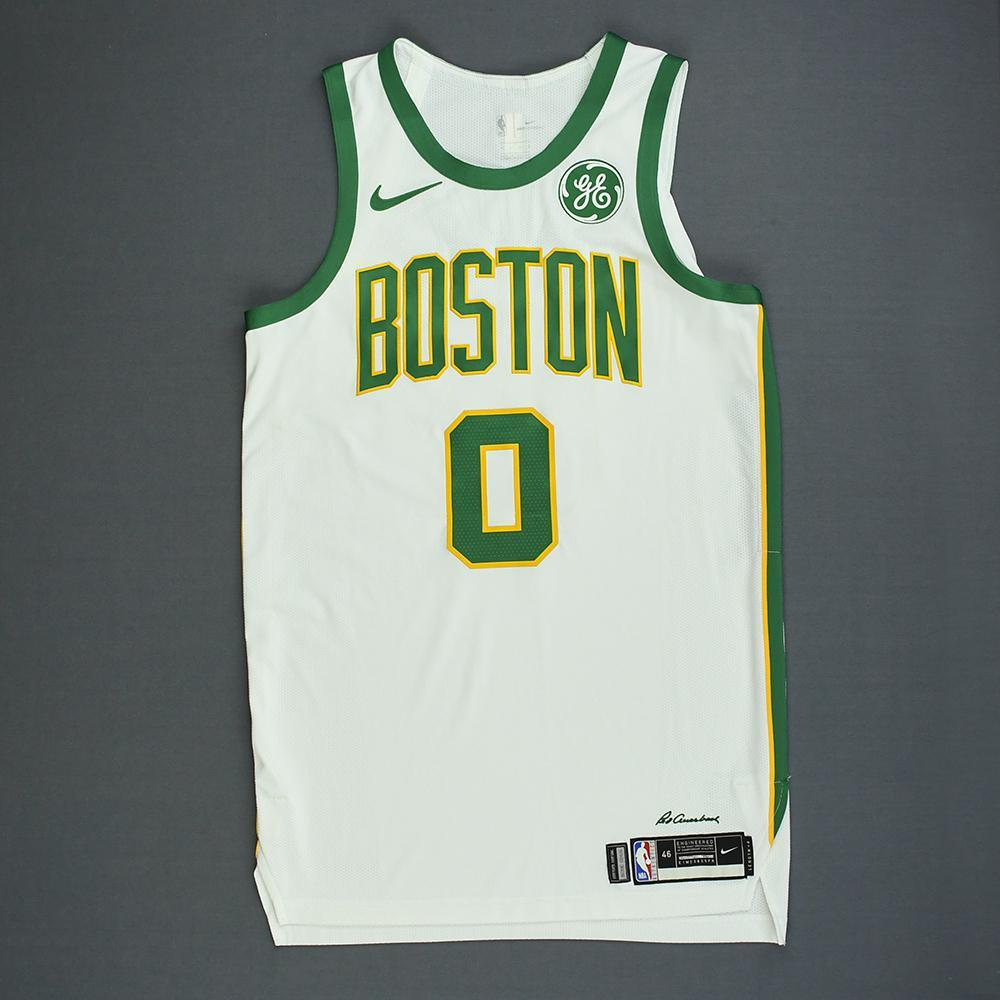 32d6f3d8044 Jayson Tatum - Boston Celtics - Game-Worn City Edition Jersey -  Double-Double