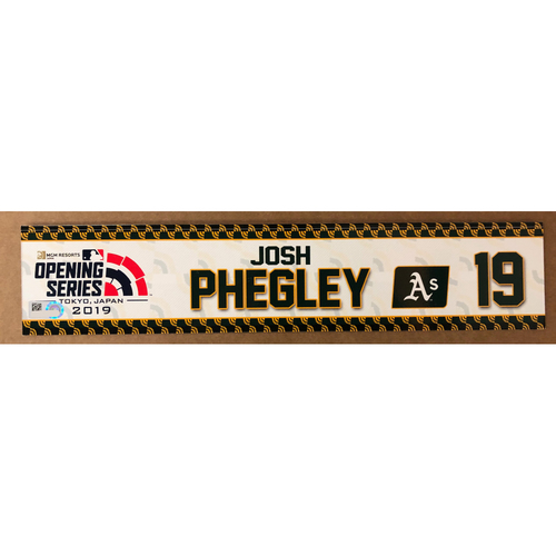 Photo of 2019 Japan Opening Day Series - Game Used Locker Tag - Josh Phegley -  Oakland Athletics