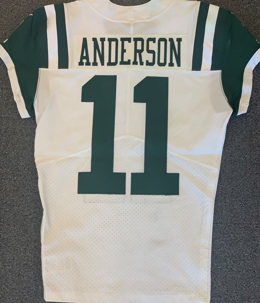 NFL Auction | New York Jets 2018 #11 Robby Anderson Game Worn Jersey