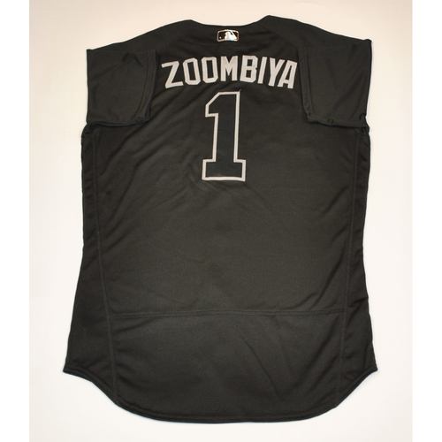 "Photo of Jarrod ""ZOOMBIYA"" Dyson Arizona Diamondbacks 2019 Game-Used Players' Weekend Jersey"
