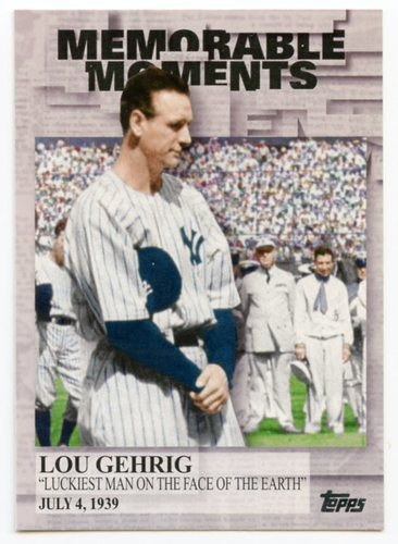 Photo of 2017 Topps Memorable Moments #MM35 Lou Gehrig