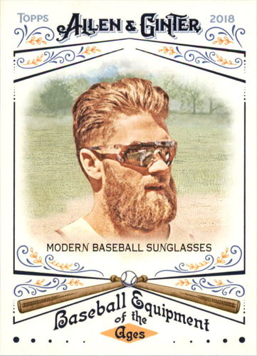Photo of 2018 Topps Allen and Ginter Baseball Equipment of the Ages #BEA23 Modern Baseball Sunglasses