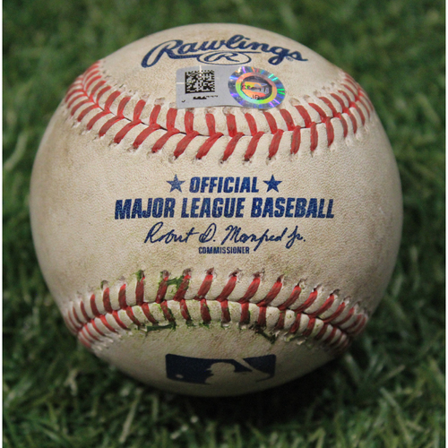 Photo of Game-Used Baseball: Victor Caratini 129th Career Hit (CHC @ KC 8/5/20)