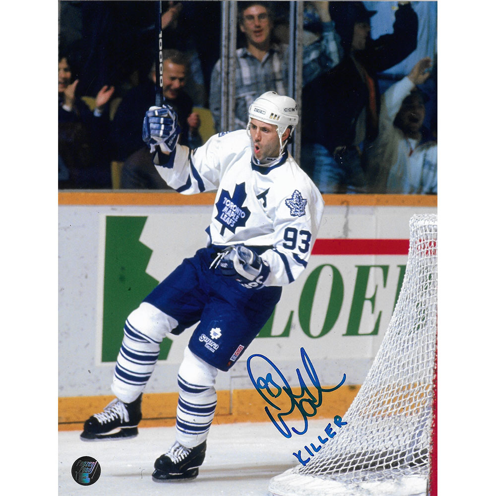 Doug Gilmour Autographed Toronto Maple Leafs 8X10 photo w/KILLER Inscription