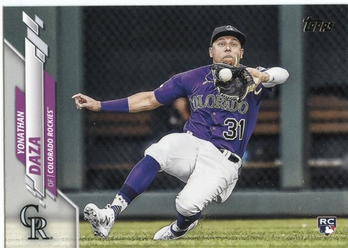 Photo of 2020 Topps #567 Yonathan Daza RC
