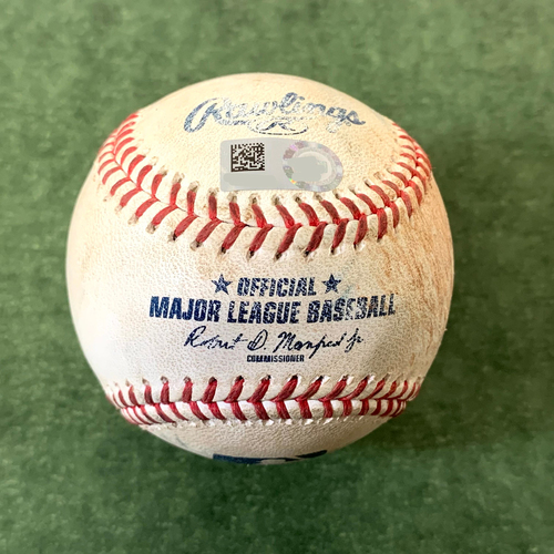 Photo of Game-Used Baseball - Merrill Kelly strikes out Jacob deGrom - Mets @ D-backs 5/31/2021