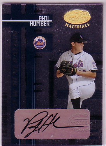 Photo of 2005 Leaf Certified Materials #231 Phil Humber NG AU T2 RC