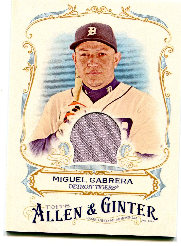 2016 Topps Allen and Ginter Relics jersey Miguel Cabrera