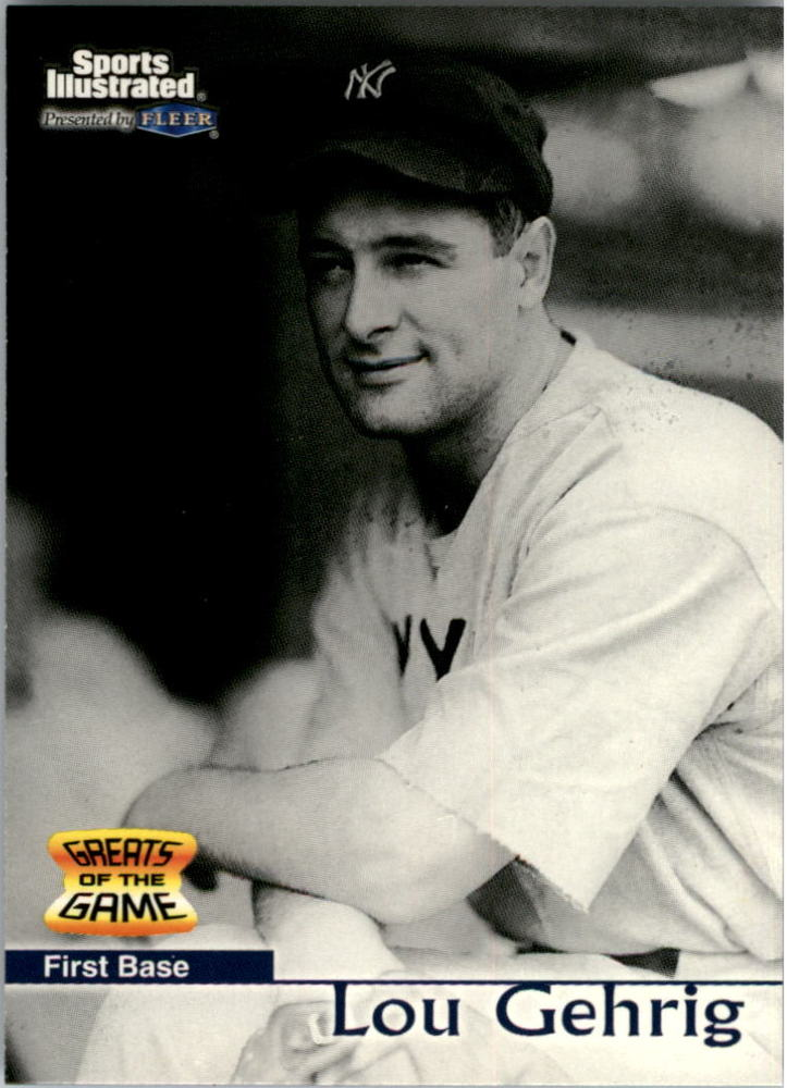 1999 Sports Illustrated Greats of the Game #4 Lou Gehrig